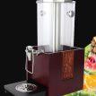 晋厨木座自助餐果汁鼎商用透明饮料机餐厅机器大容量冷餐设备冷饮